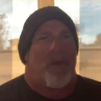 Goldberg is interviewed by paid WWE shill Ryan Satin.
