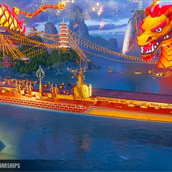 World Of Warships Has Added A Massive Dragon Port
