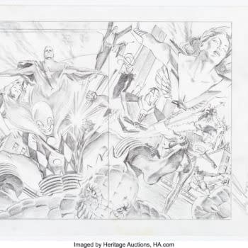 Alex Ross' Astro City Poster Pencils Up For Auction, Only $360 So Far