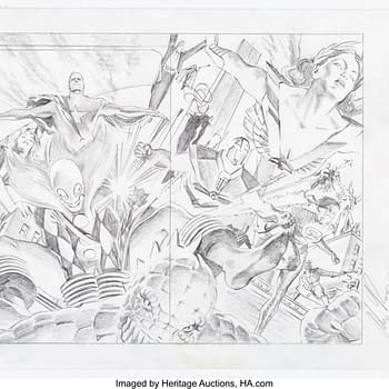 Alex Ross Astro City Poster Pencils Up For Auction Only $360 So Far