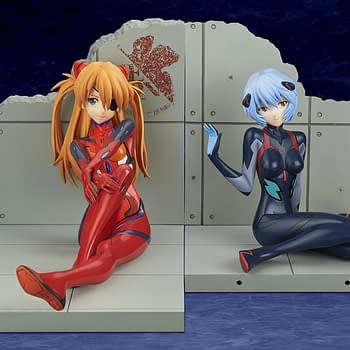 Evangelion Asuka and Rei Get New Updated Statues From Bellfine