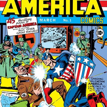 The cover to Captain America Comics #1