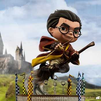 Harry Potter Goes After the Golden Snitch With Iron Studios