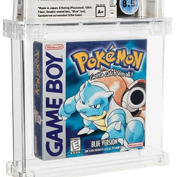 Pokémon Blue Wata A+ 8.5-Graded Copy Up For Auction At Heritage