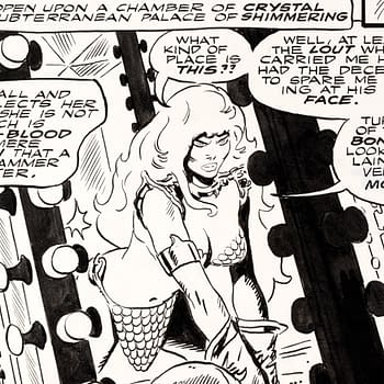 Red Sonja Original Art by Frank Thorne Up for Auction