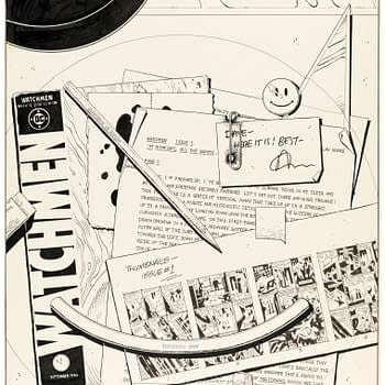 Dave Gibbons Forgotten Watchmen Cover Up For Auction