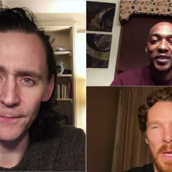"WandaVision cast took questions from three ""special"" fans. (Image: TWDC screencap)"