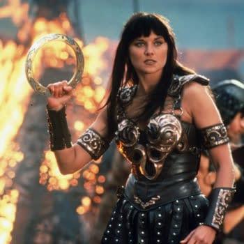 Xena star Lucy Lawless has soem words for Kevin Sorbo. (Image: WarnerMedia)