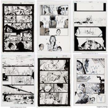 Bryan Hitch, Olivier Coipel, Frank Quitely & Mark Millar Original Art