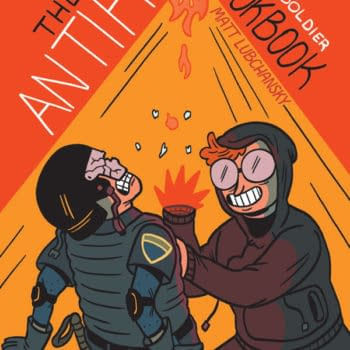 The cover to the The Antifa Super-Soldier Cookbook by Matt Lubchansky