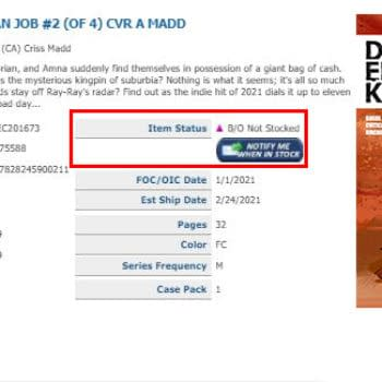 Dead End Kid: The Suburban Job #2 Sells Out Now, Still No Word Second Printings