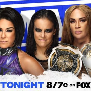 Bayley will host another edition of Ding Dong Hello on WWE Smackdown tonight, featuring the WWE Women's Tag Team Champions Shayna Baszler and Nia Jax as guests.