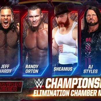 Elimination Chamber match graphic for the WWE Championship match.