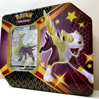 Pokémon TCG Shining Fates Product Review: Shiny Bolton V Tin