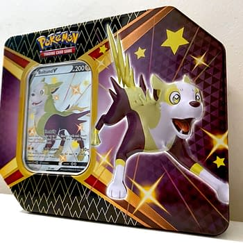 Pokémon TCG Shining Fates Product Review: Shiny Bolton V Tin