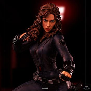 Black Widow Gets New Iron Man 2 Statue From Iron Studios