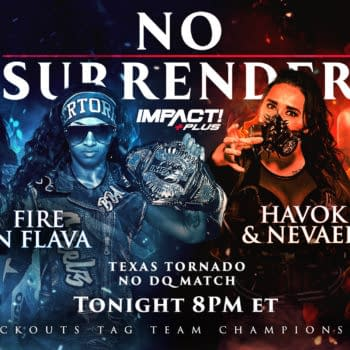 Impact No Surrender Match Graphic for Fire N' Flava vs. Havok and Nevah for the Knockouts Tag Team Championships