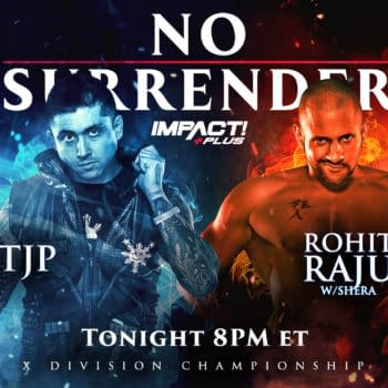 Impact No Surrender Match Graphic for TJP vs. Rohit Raju for the X-Division Championship