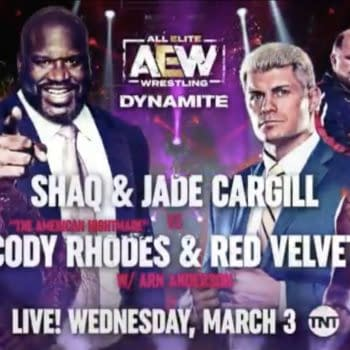 Shaq and Jade Cargill will face Cody Rhodes and Velvet on AEW Dynamite on March 3rd.