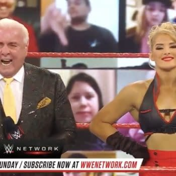 Ric Flair revealed on WWE Raw tonight that his relationship with Lacey Evans is just casual.