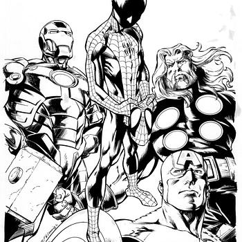 Mark Bagleys Miles Morales Spider-Man Cover Art Sells For $225000