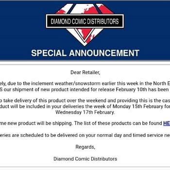 Diamond UK Delays To Comic Book Stores This Week