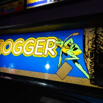 Santa Cruz, California - October 18, 2019: The original Frogger arcade game in an indoor arcade at the famous Santa Cruz boardwalk, photo by Logan Bush / Shutterstock.com.