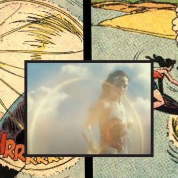 Wonder Woman #98 spinning lasso scene vs Wonder Woman 1984.
