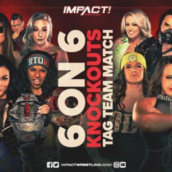 On Impact Wrestling this week, Deonna Purrazo, Fire N Flava, Fire 'N Flava, Kimber Lee, Susan, and Tenille Dashwood will team up to take on Jordynne Grace, Jazz, ODB, Havok, Nevaeh and Alisha Edwards.
