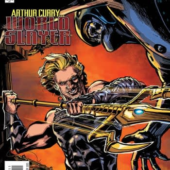 The cover to an issue of Aquaman written by Cullen Bunn.