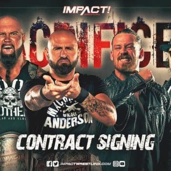 The Good Brothers and FinJuice will sign the contracts for their upcoming match for the Tag Team Championships at Sacrifice tonight.