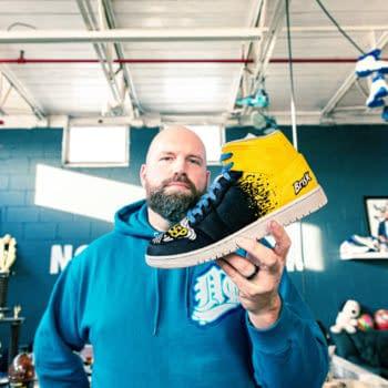 Dan Gamache Makes Custom Sneakers For Briskk's New Flavor