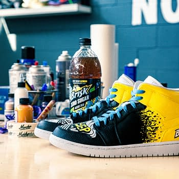 Dan Gamache Makes Custom Sneakers For Briskk's New Flavor