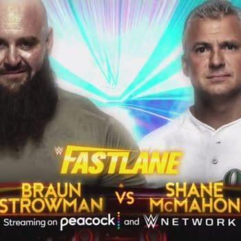 Match graphic for Braun Strowman vs. Shane McMahon at WWE Fastlane
