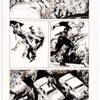 Bid to Win A Butch Guice Original From Brubaker's Captain America Run