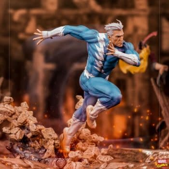 Quicksilver Races On In With New Marvel Comics Iron Studios Statue