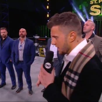 """MJF explains how he """"plucked Chris Jericho feather by feather"""" and introduces The Pinnacle on AEW Dynamite: St. Patrick's Day Slam."""