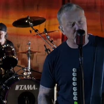 Metallica Stephen Colbert Celebrate 35 Years of Master of Puppets