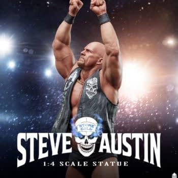 Stone Cold Steve Austin PSC Statue Arrives For 3:16 Entrance
