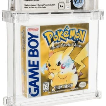 Pokémon Yellow WATA 9.0 A+ Graded Copy Up For Auction At Heritage