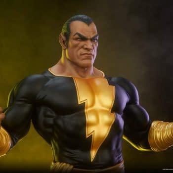 Black Adam Gets Electrifying New Tweeterhead DC Comics Statue