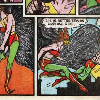 All-Star Comics #5 interior page featuring Hawkgirl, DC Comics 1941.