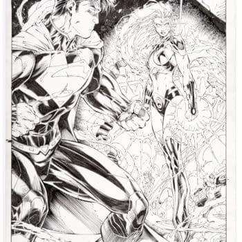 Starfire Original Artwork Splashpage By Brett Booth, At Auction