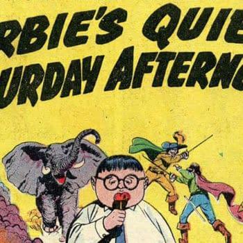 Forbidden Worlds #73 Title Page art by Ogden Witney, ACG 1958.