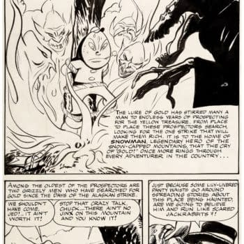 Full 10-Page Unpublished Frank Frazetta Comic From 1944 At Auction
