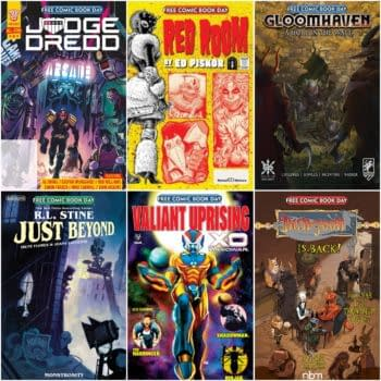 More FCBD Details For Valiant, 2000AD, Red Room, Dungeon & RL Stine