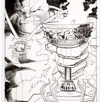 Thanos Celebrates His Win in This Thor #22 Original
