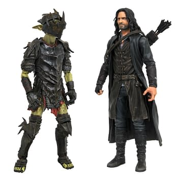 Lord of the Rings Aragorn and Moria Orc Arrive From Diamond Select