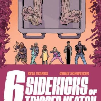 The Six Sidekicks of Trigger Keaton, a new action-mystery series from Eisner-nominees Kyle Starks (SexCastle, Assassin Nation) and Chris Schweizer (Crogan Adventures).