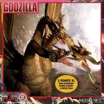 King Ghidorah Prepares For War With Godzilla Box Set 2 From Mezco